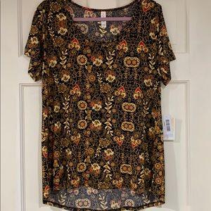 LuLaRoe multi-colored floral Classic T shirt L NWT